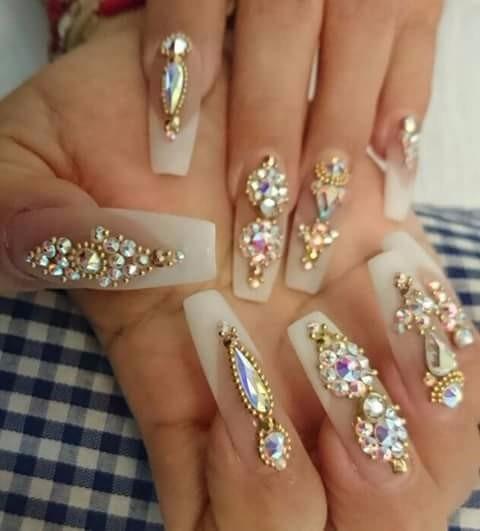 10 gotas largas de cristal piedra para u as acrilico On piedras de cristal para uñas