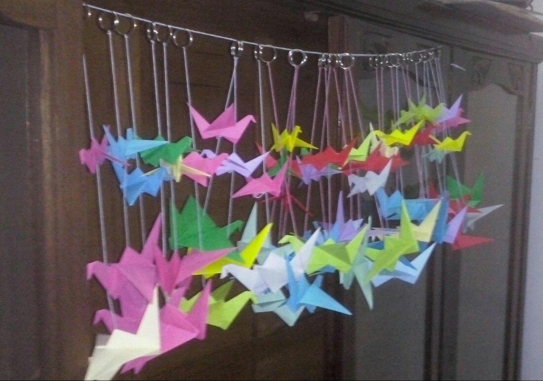 10 Grullas Origami Decoracion Regalar Eventos