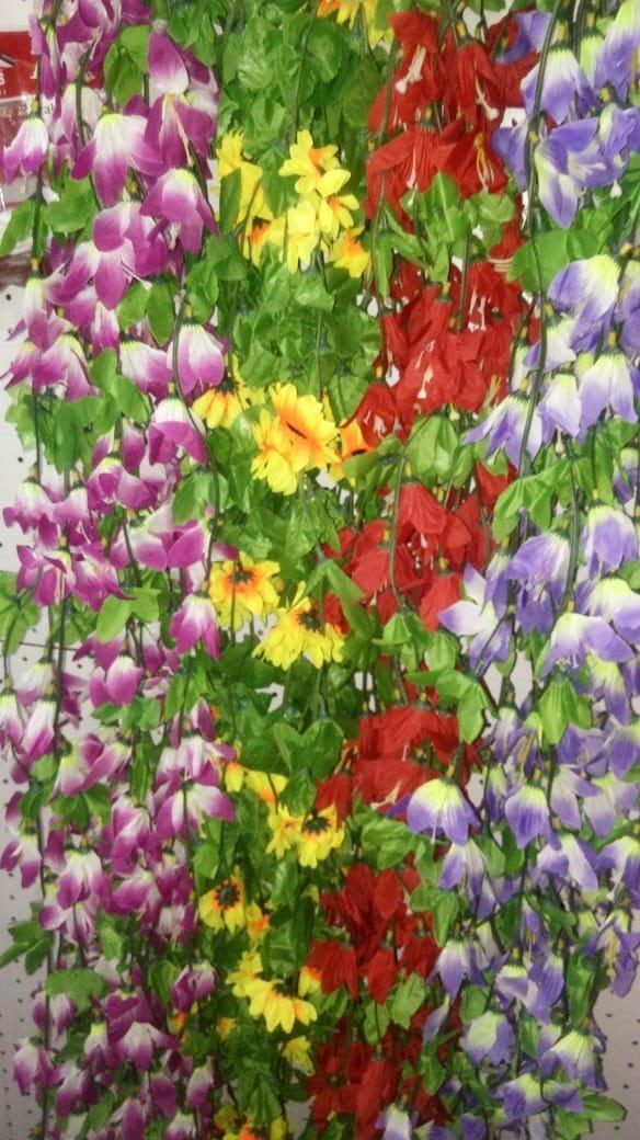 10 Guias Enredadera Flores Hojas Artificiales Rosas 20mts 790