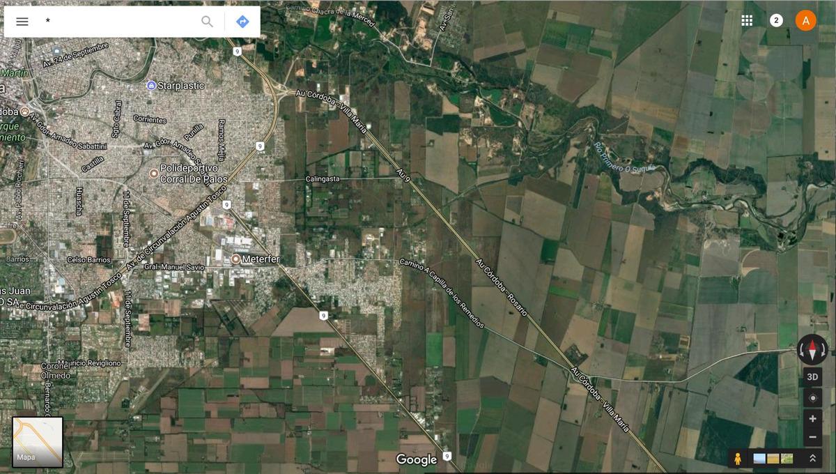 10 hectáreas en venta sobre autopista córdoba-rosario.