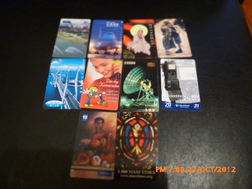 10 hermosas tarjetas telefonicas de prepago diferentes