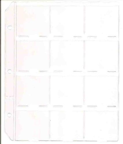 10 hojas/folios para organizar coleccion de monedas, excelen