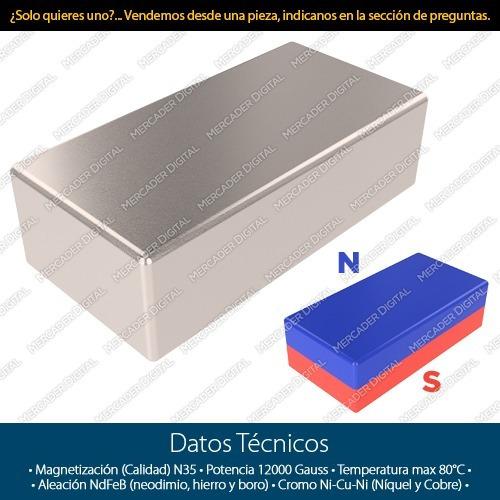 10 imanes de neodimio 10mm x 5mm x 3mm barra placa bloque