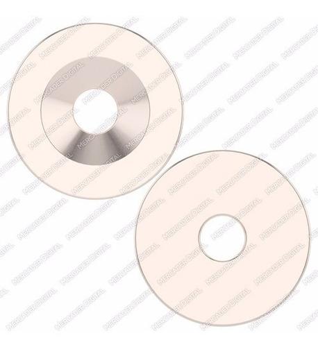 10 imanes de neodimio de 12mm x 3mm int. 3mm dona anillo