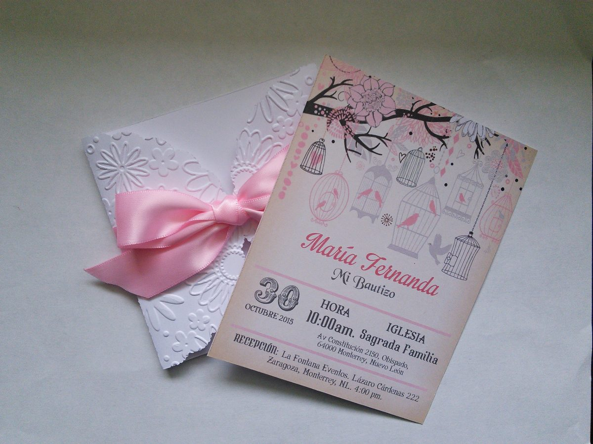 10 invitaci u00f3n original bautizo scrapbook relieve ni u00f1o y