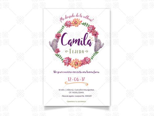 10 invitaciones boda fiesta xv años baby shower cumpleaños