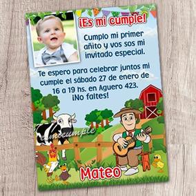 15 Invitaciones De Cumpleaños Personalizadas La Granja Zenòn