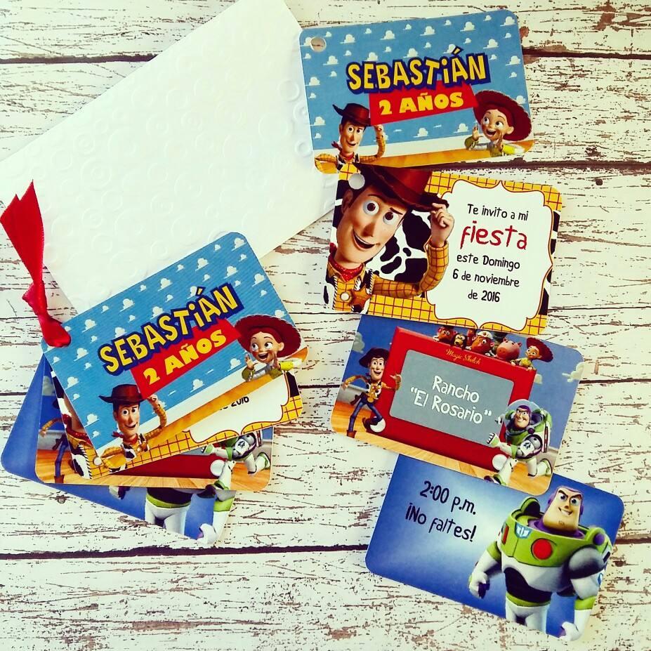10 Invitaciones De Toy Story 4 Tarjetitas Woody Buzz Fiesta