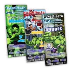 Hulk Cuadro Invitaciones Y Tarjetas De Cumpleaños Infantil
