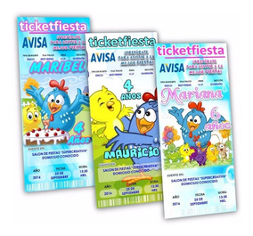 Diseño De Invitaciones Imprimibles La Gallina Pintadita