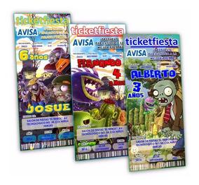 Invitaciones Plants Vs Zombies Invitaciones Y Tarjetas De