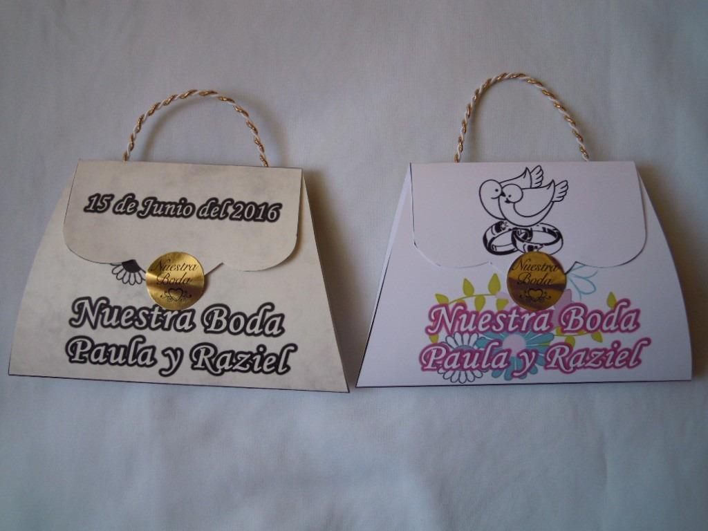 mini bolsa de mano boda nuestra boda