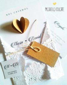 10 Invitaciones Tarjetas Casamientos Bodas Quince Años