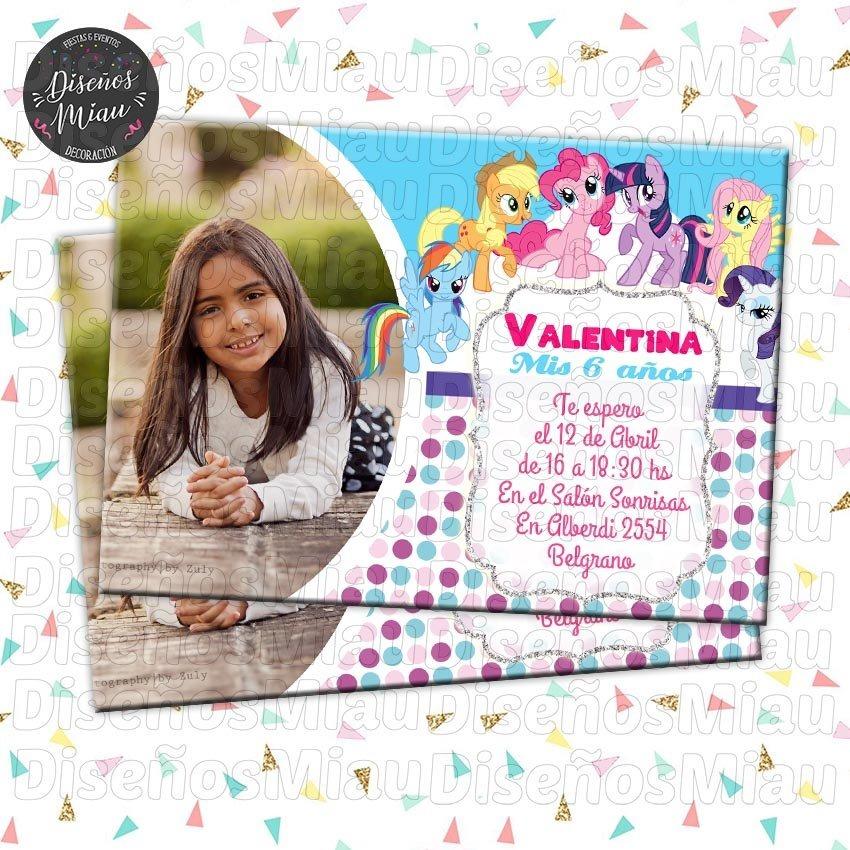 10 Invitaciones Tarjetas Cumpleaños My Little Pony Cumple