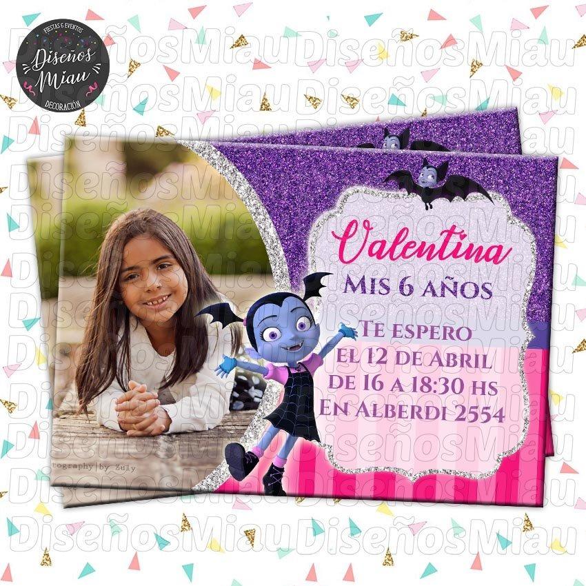 10 Invitaciones Tarjetas Cumpleaños Soy Luna