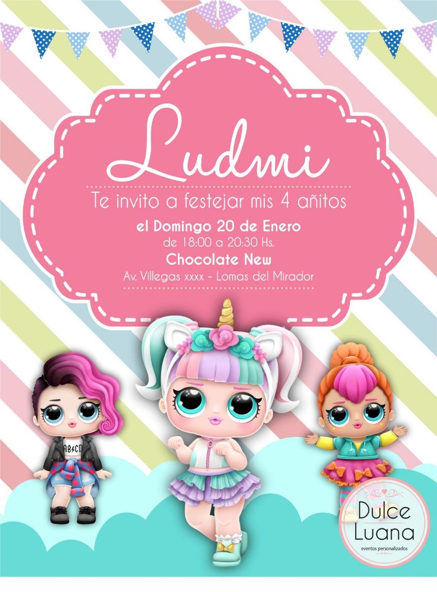 10 Invitaciones Tarjetas Infantiles Original Lol Surprise