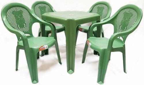 10 jogos de mesa com 04 cadeiras plástica infantil  promoção