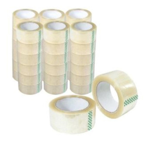 10 kit  fitas larga transparente  adesivas 06 unid 48mmx100.