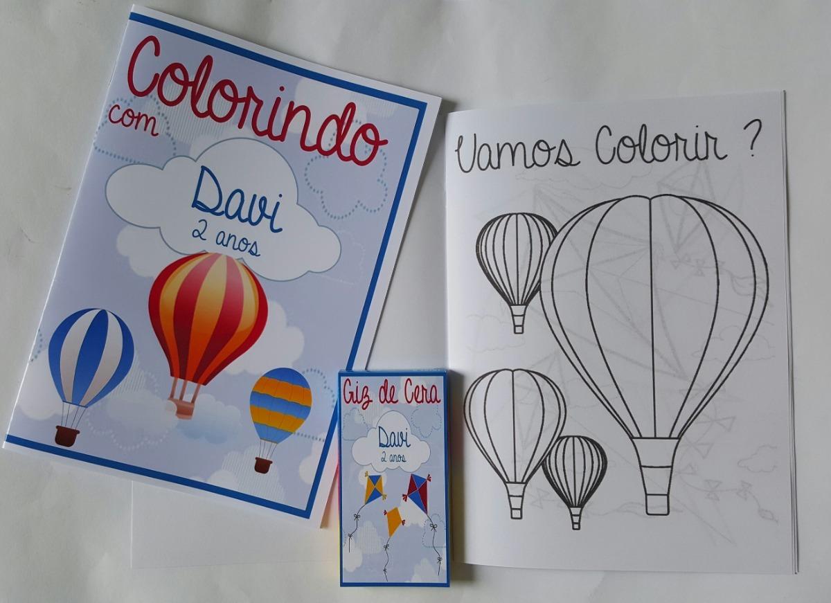 10 Kits Colorir Com Massinha Personalizados Baloes E Pipas R 95