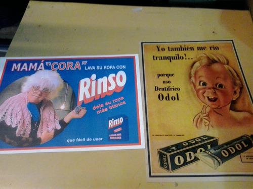 10 laminas de antiguas publicidades- 44x30 - d