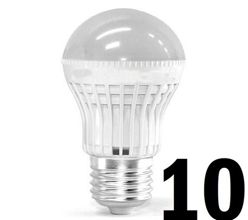 10 lampada led 5w bulbo bivolt e27 bivolt 90% de economia