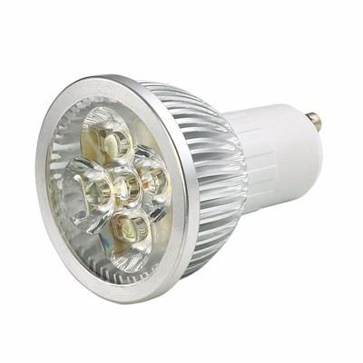 10 lampada led dicroica bivolt branco quente spot gu10 5w