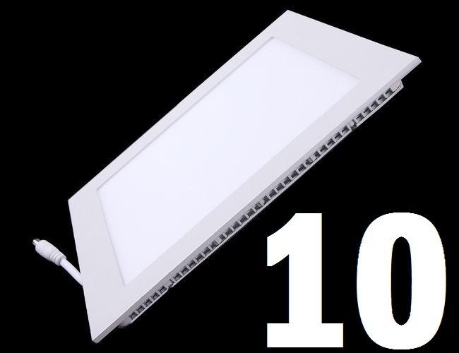 10 lampada led plafon slim 6w quadrado luz fria embutir spot r 169 99 em mercado livre. Black Bedroom Furniture Sets. Home Design Ideas