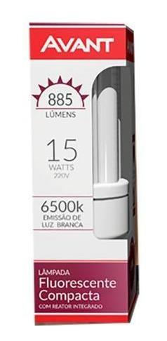 10 lampadas eletronica 3u 15w 220v branca 6500k avant