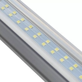 10 lampara doble aluminio led techo tubo 24w t8 /e