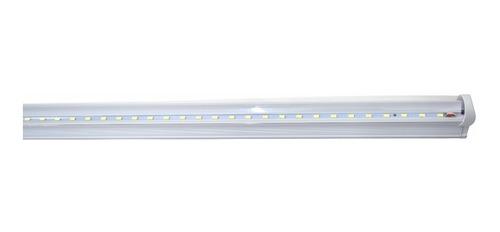 10 lampara tubo led techo 18w t8 plastico con accesorios /e