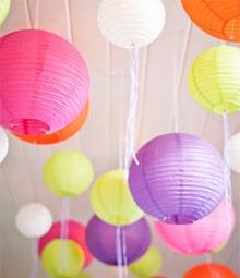 10 lámparas chinas con luz led varios colores