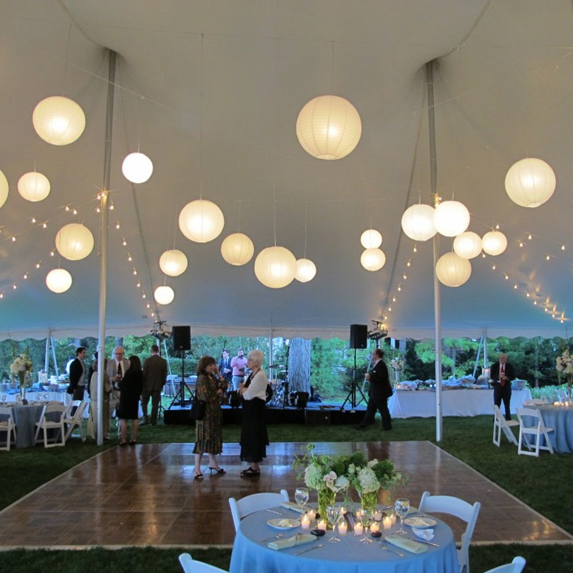 10 lamparas chinas grandes blancas bodas xv bautizos - Lamparas de decoracion ...