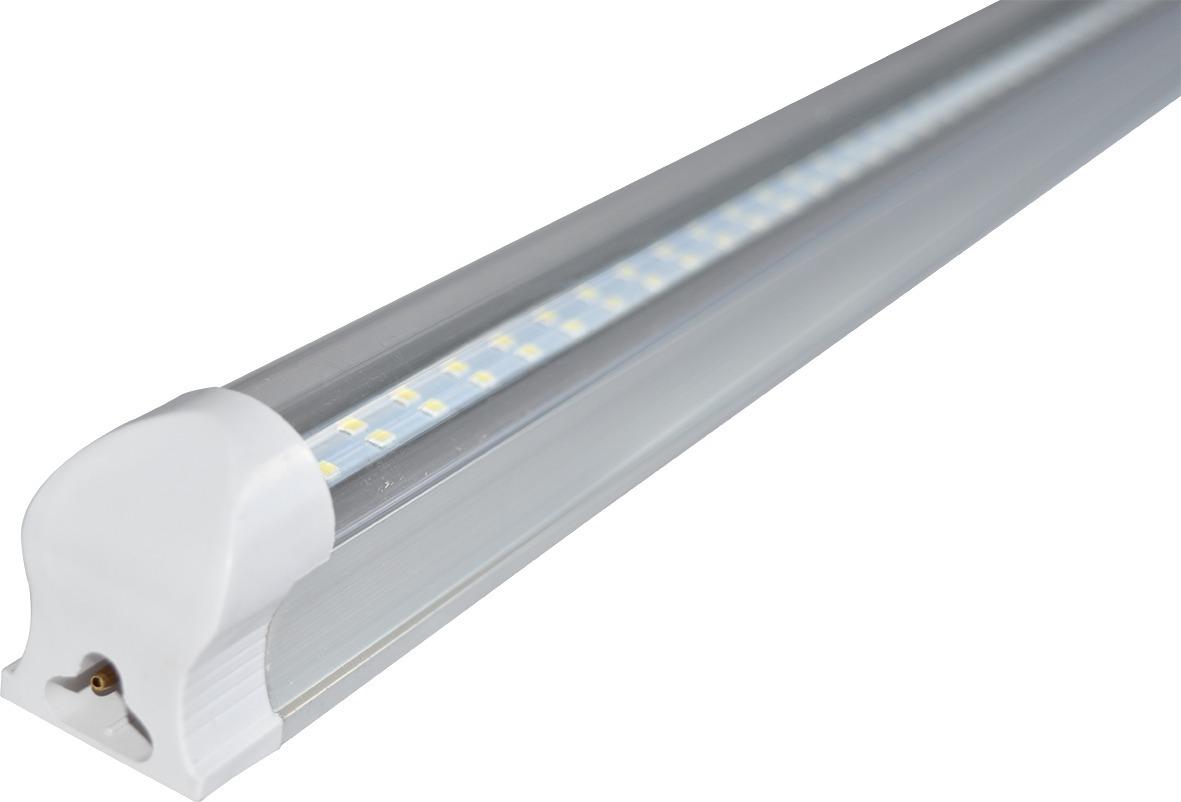 10 lamparas doble led techo tubo 24w t8 aluminio accesorio - Lamparas de bodega ...