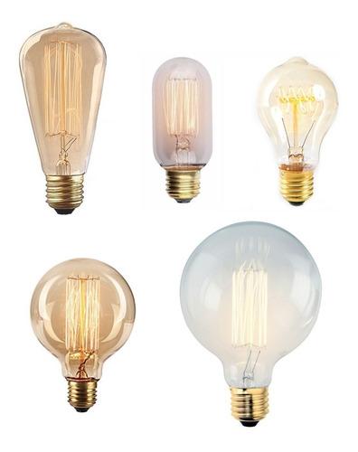 10 lamparas filamento carbono vintage antigua x 10u. cuotas!