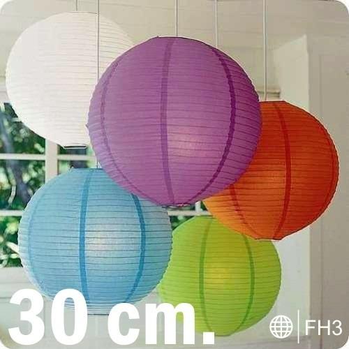 10 lamparas pantallas linternas chinas 30 cm 12in fiestas