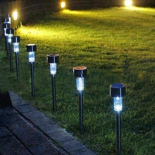 10 lámparas solar led jardin exterior impermeable decoración