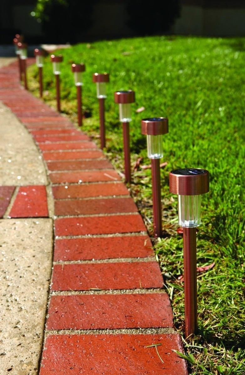 10 lamparas solares luces leds lampara jardin patio solar - Luces solares jardin ...