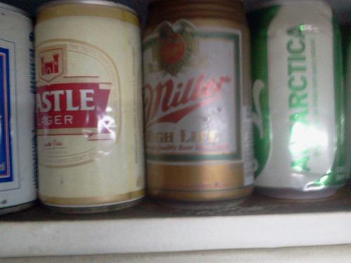 10 latas cerveza distintos paises - vacias