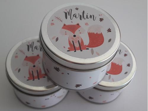 10 latas personalizadas 5x6,5 ideal souvenirs