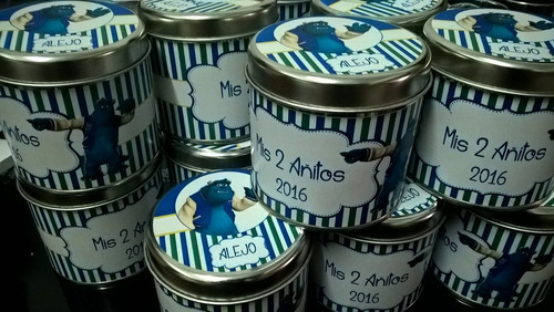 10 latas personalizadas 8x8,5cm - souvenir personalizados!