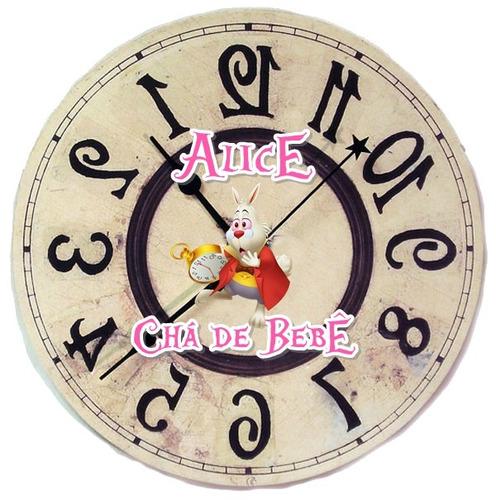10 latinhas relógio alice no país das maravilhas