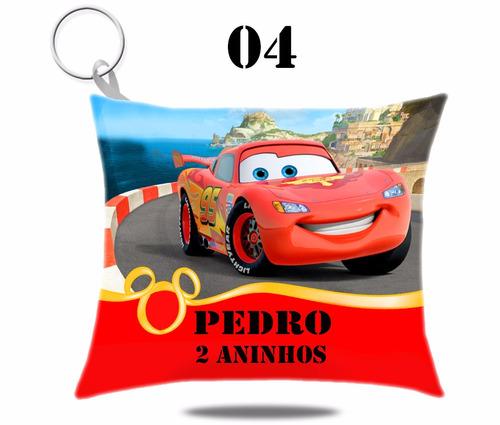 10 lembrancinha chaveiros almofada tema carros disney