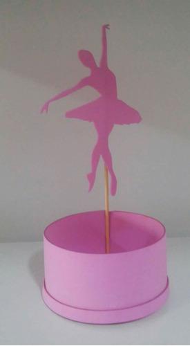 10 lembrancinha de mesa bailarina em eva