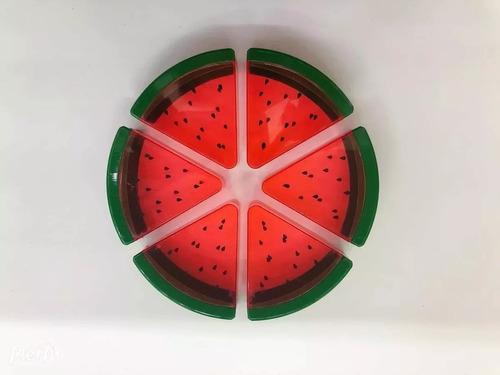 10 lembrancinha melancia neon enfeite festa frutas tropical