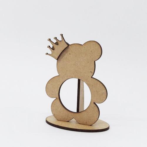 10 lembrancinha portabombom ursa ursinha princesa coroa laço