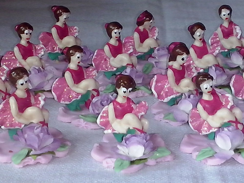10 lembrancinhas bailarina  recado em biscuit
