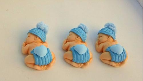 10 lembrancinhas bebê em biscuit  com imã menino