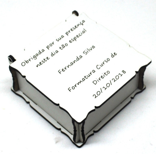 10 lembrancinhas caixinha formatura gravação personalizada