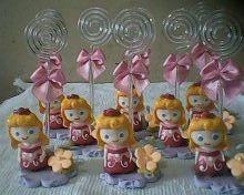 10 lembrancinhas   princesas baby  bela  adormecida  biscuit