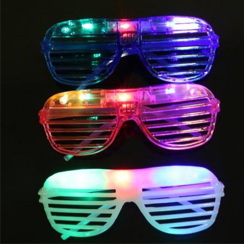 10 lentes con luz persiana led fiesta sombrero batucada dj